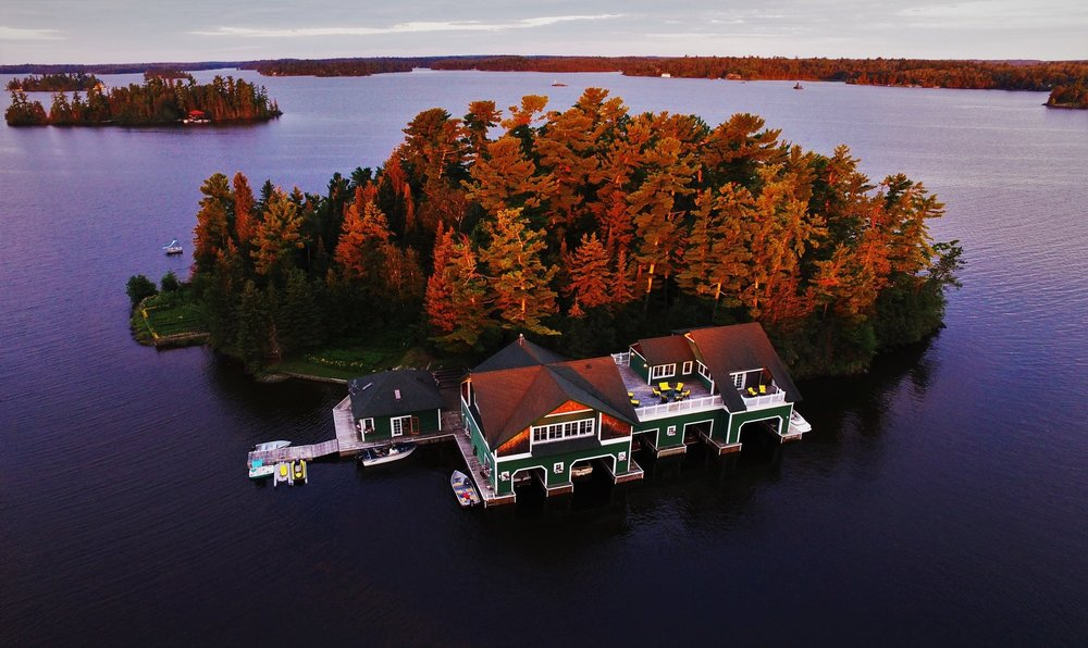 Aerial Photography Cottage Country