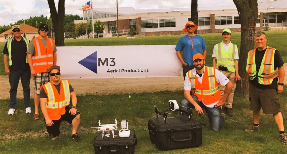 M3 Aerial Productions Team at the Crohns & Colitis Canada Gutsy Walk in Winnipeg