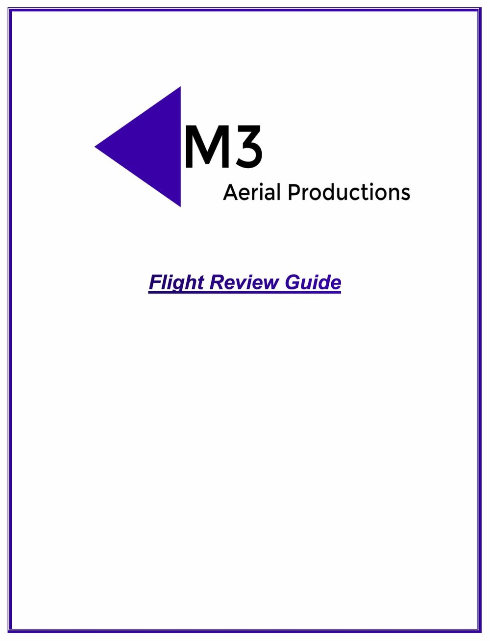 Click the image to download the Flight Review Guide.