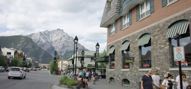 view from downtown Banff, Alberta, Canada
