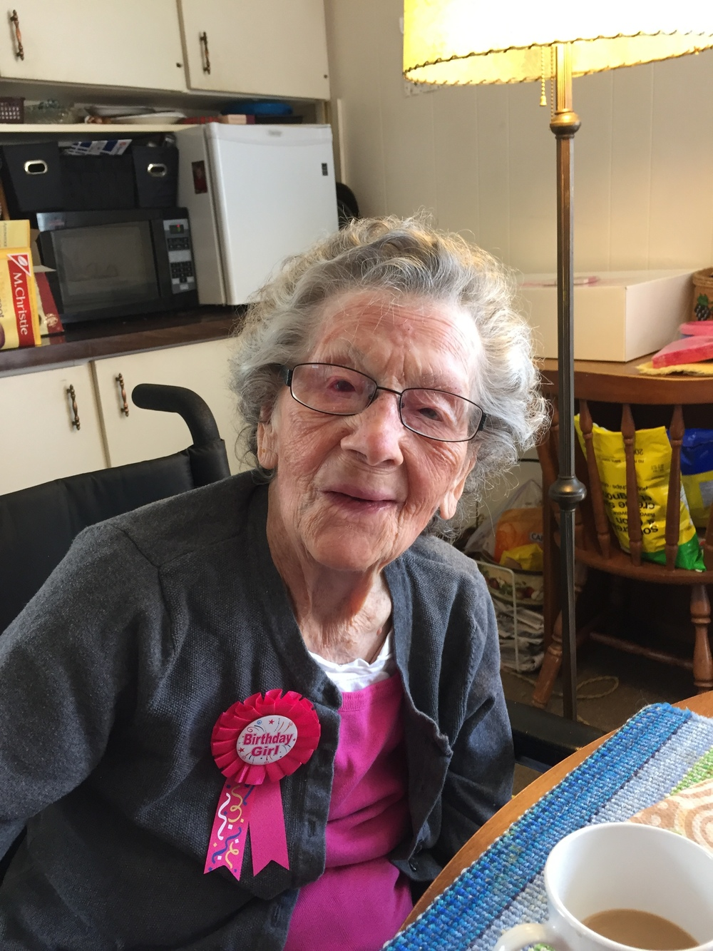 Dolly Gibb celebrating her 111th Birthday on April 26, 2016