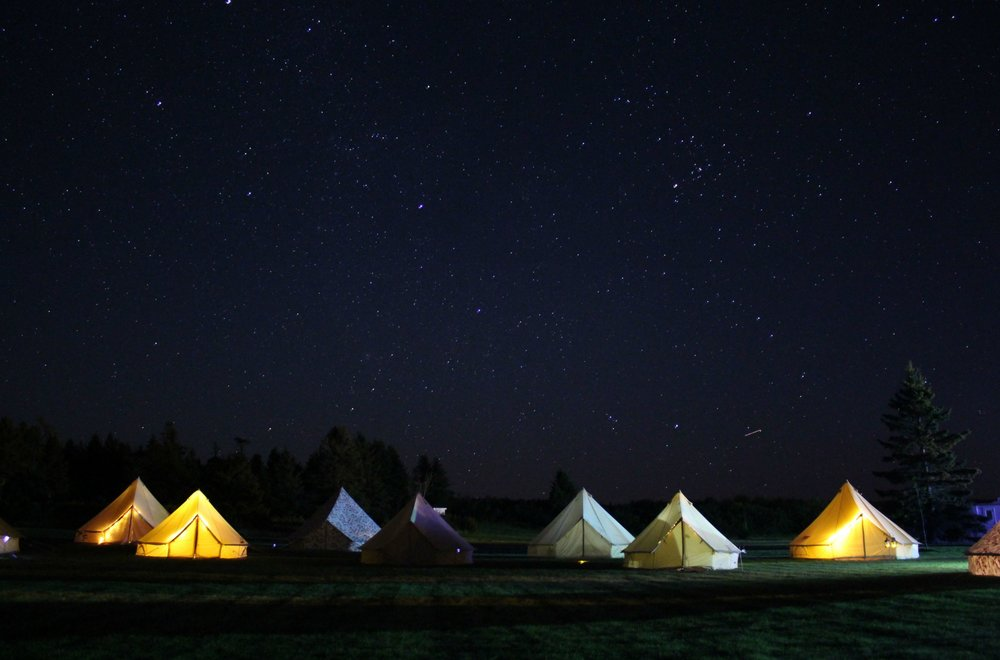 Fundy Tide Camp Ground Set up by East Coast Glamping. Photo by Samantha Gary