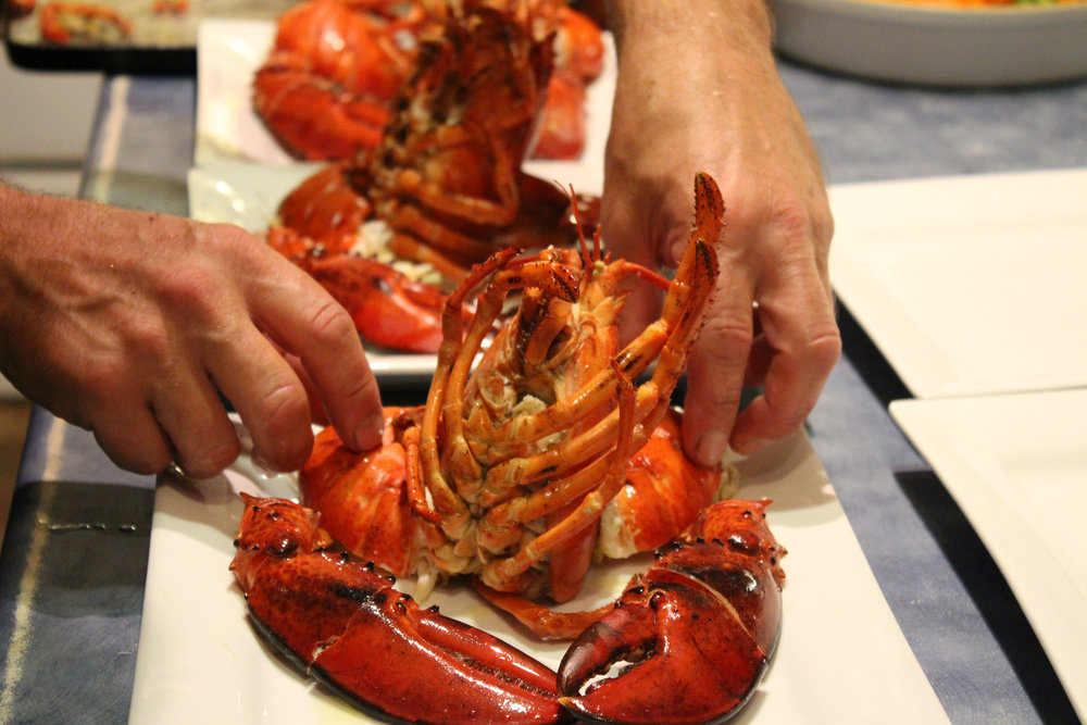 Lobster dinner served up at Lighthouse on Cape D'Or. Photo By Samantha Gary