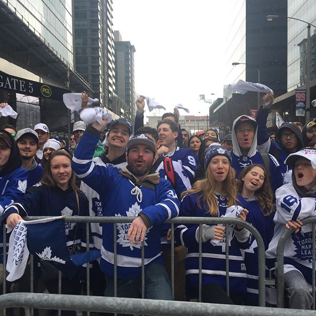 No matter which way it goes, always  fun to be part of it! #goleafsgo #leafsforever #stanleycup #toronto #thesix #hockey #gamesixinthesix