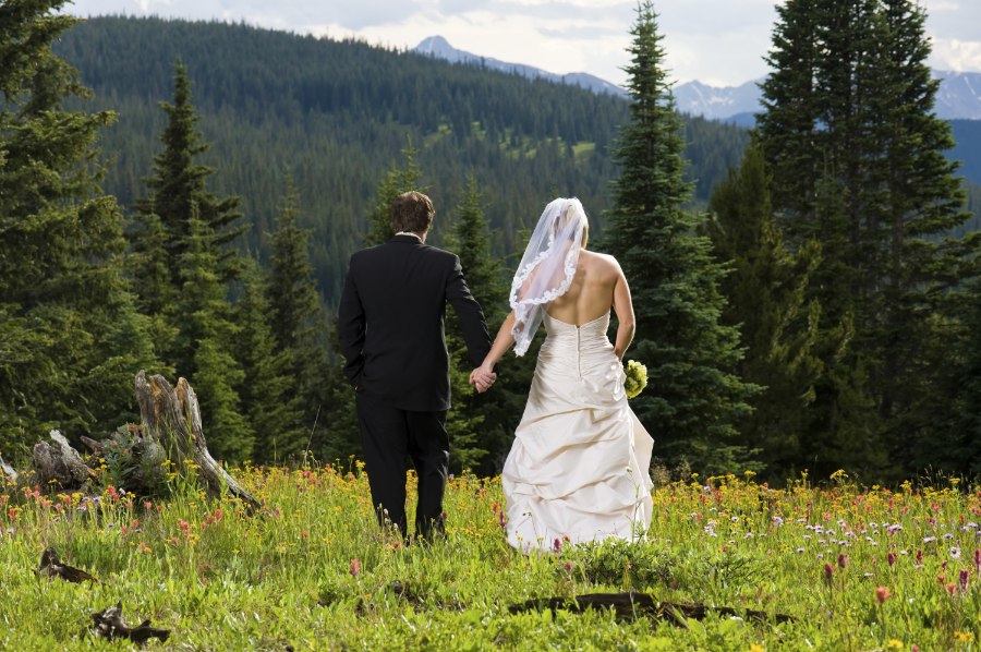Wedding near Jackson Hole Wyoming. Grant Teton National Park