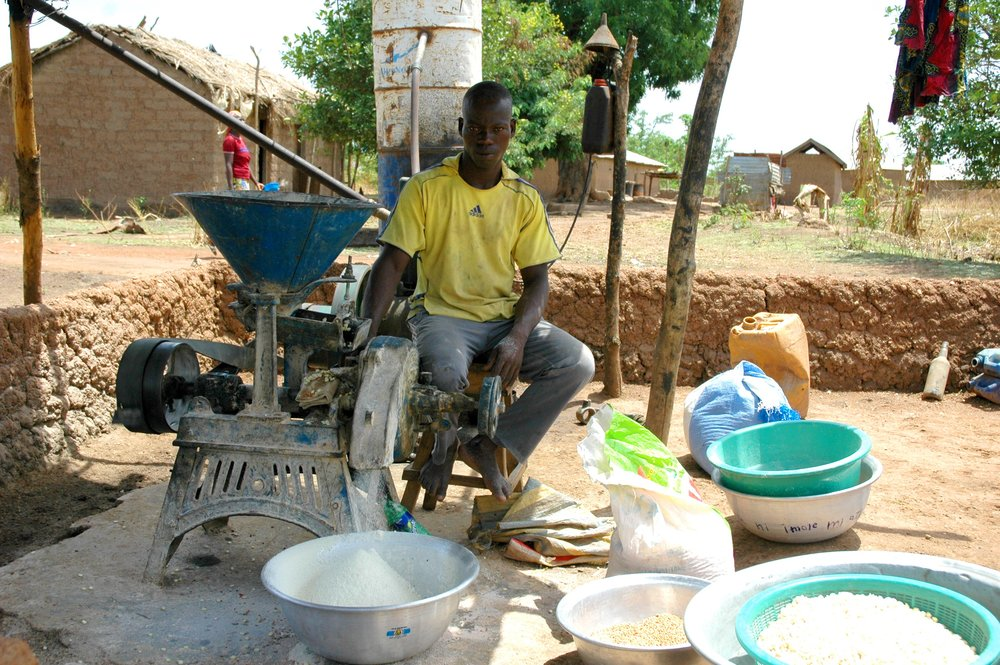 Arrissou operating his cereal mill