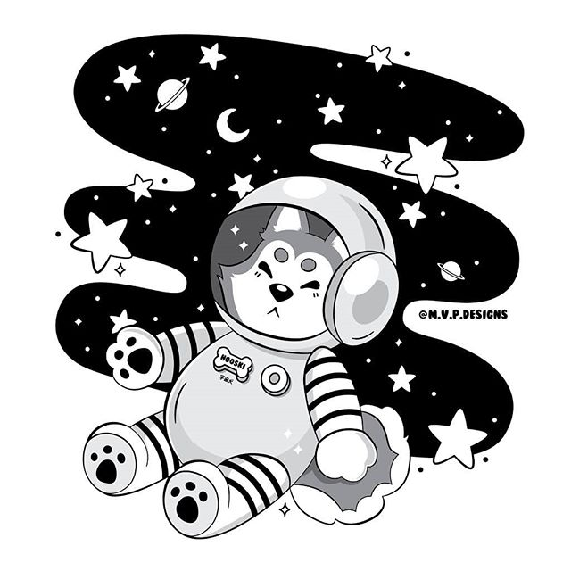 Houston, we have a good boy 🚀🌌🐶 working on a colored version of this as well. Link to merch of this in my bio!  #illustration #dog #space #astronaut #stars #planets #digitalart #design #doggo #graphicdesign #vector #designinspiration #graphicdesigncentral #graphicdesignblg @graphicdesignblg #graphicroozane #illustree @illustree #picame #graphicdesigner #simplycooldesign #instagood #kawaii #sparkle #cute #illustrator  #illustrator #tshirtdesign #adobe