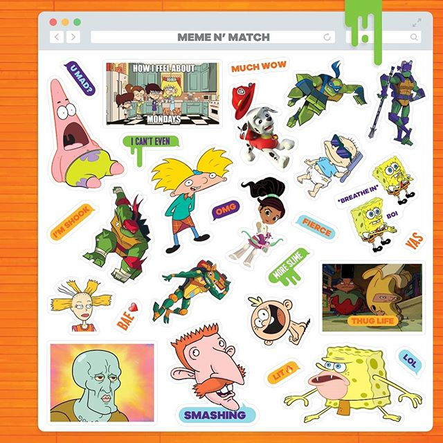 Memes are a part of my job description ✏️ Nick kit notebook 2018 meme n match stickers #stickers #spongebob #memes #spongebobmeme #nickelodeon #design #graphicdesign #graphicdesigncentral #instagood #cartoon #90scartoons #heyarnold #notebook #stickerdesign #graphicroozane #nofilter @nickelodeon