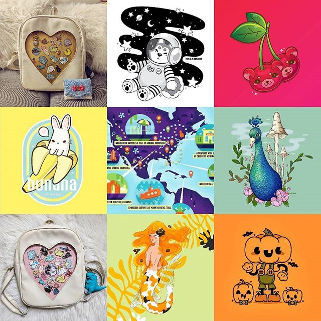 Definitely looking forward to creating more art in 2019 ✨  #top9of2018 #top9 #graphicdesign #illustration #pins #pincollection #itabag #cartoons #colorful #instagood #adobe #design #vector #photoshop  #illustrator #bye2018