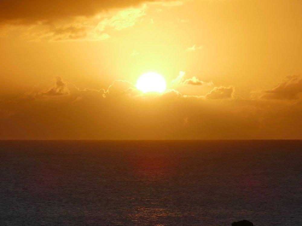 Coucher de soleil capté par notre grande Aurélie.