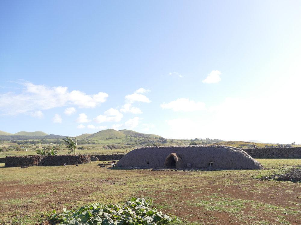 Village typique de l'époque des Moais.