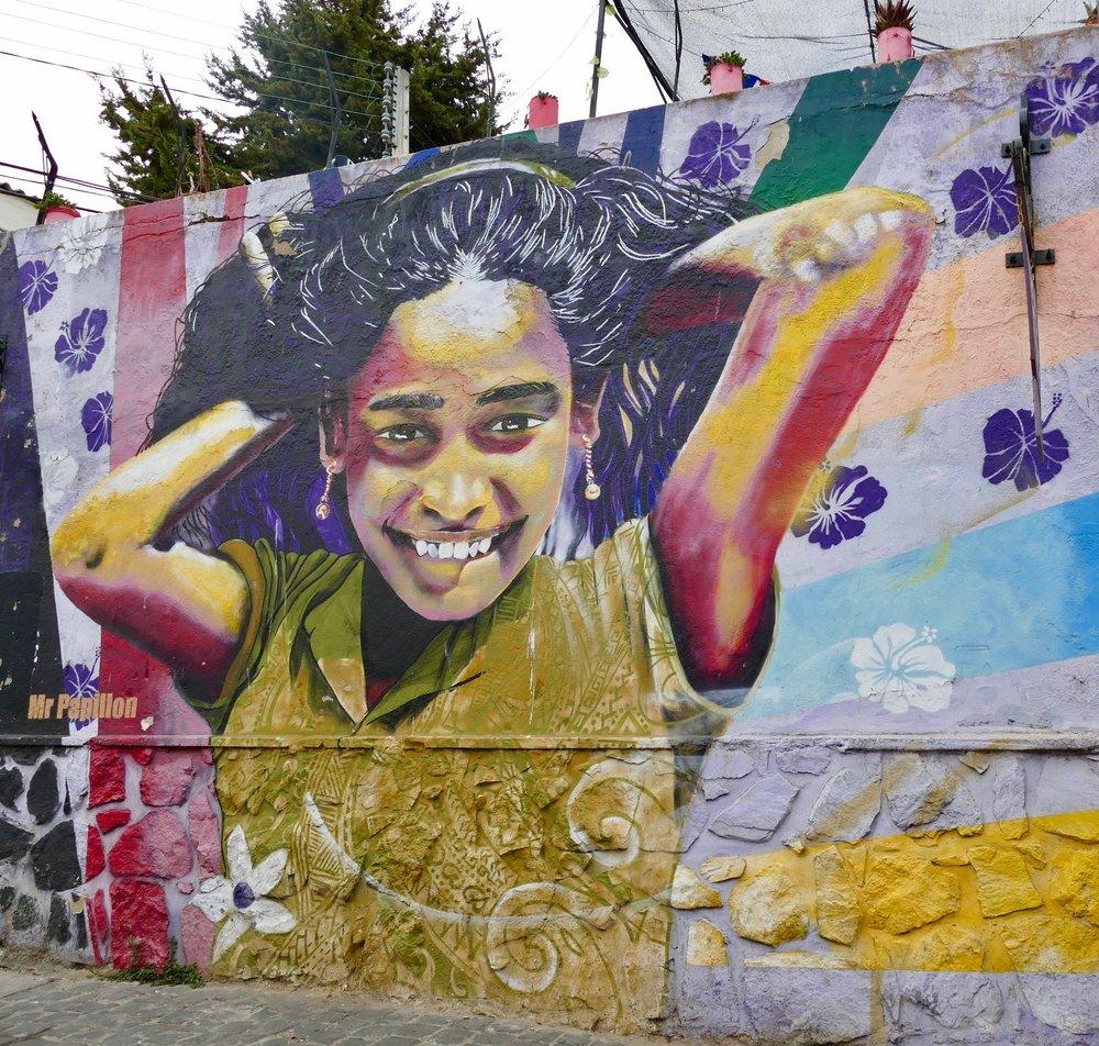 Graffiste reconnu pour ses réalisations colorées et vivantes