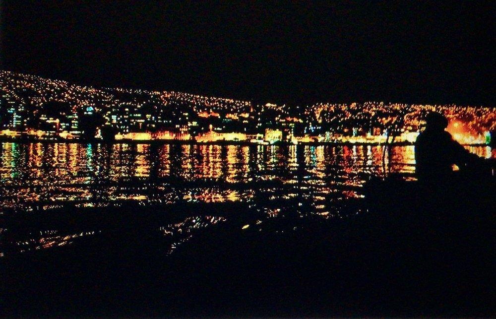 La belle ville illuminée