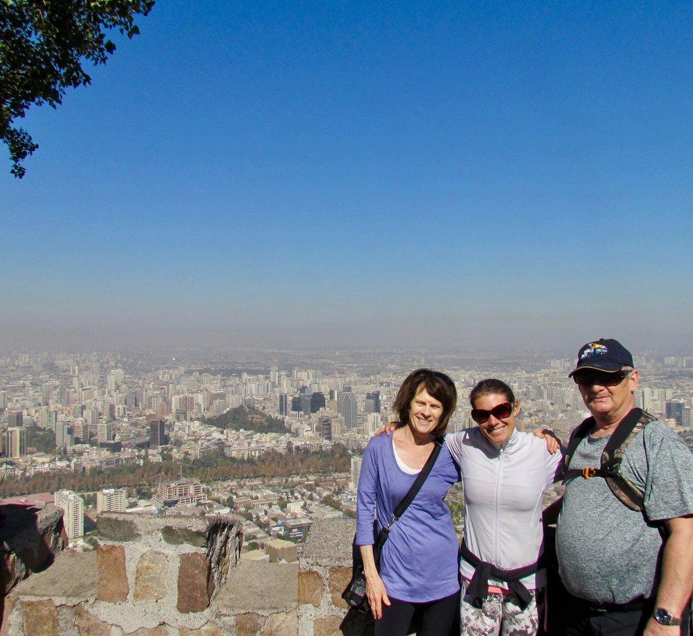 Le plus haut sommet de la grande ville, malheureusement le smog était de la partie...