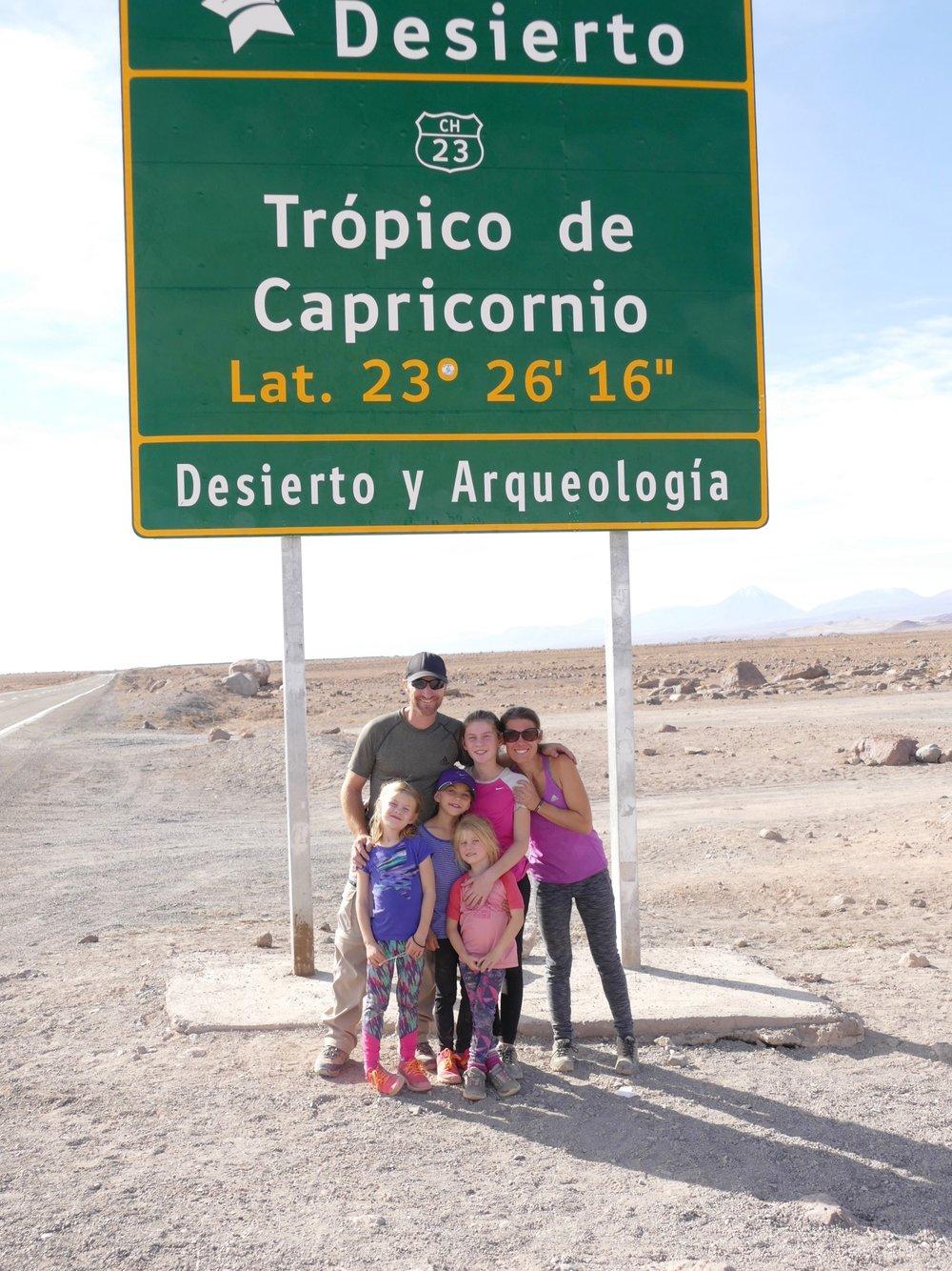 Pour la troisième fois en un an.. on traverse le tropic du capricorne!