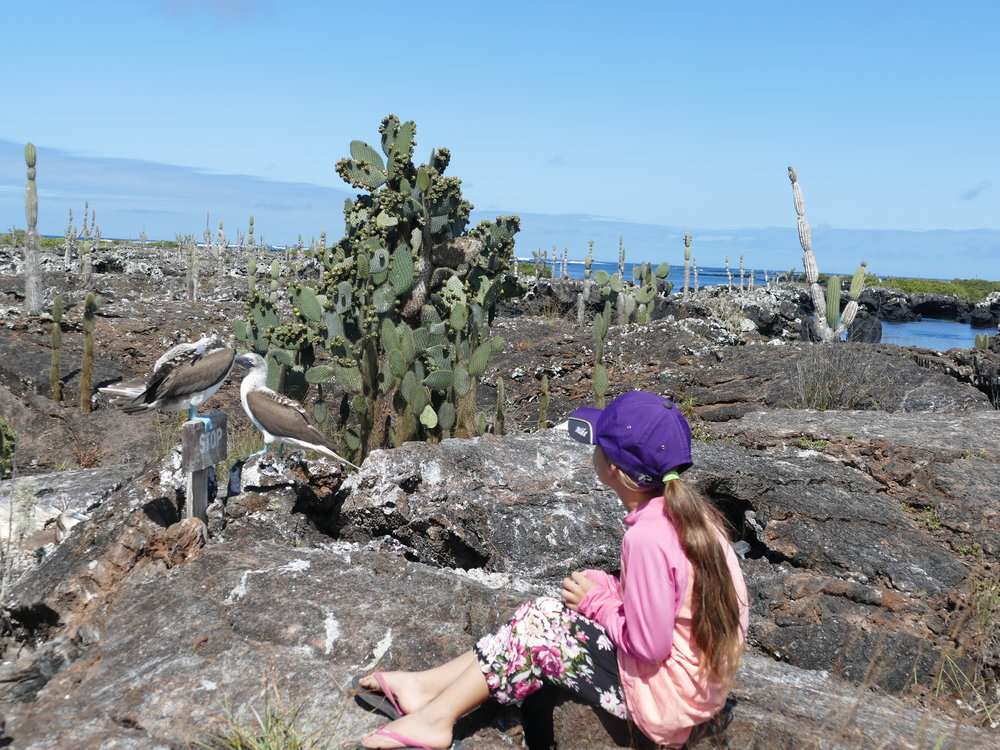Loryane, notre amoureuse de la nature prenait au sérieux l'exploration des îles.