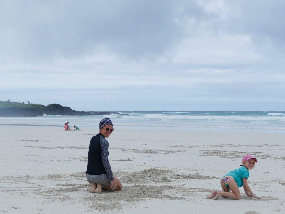 La plage de Tortuga Bay... l'image en dit long! Tout le monde y trouvait son compte!