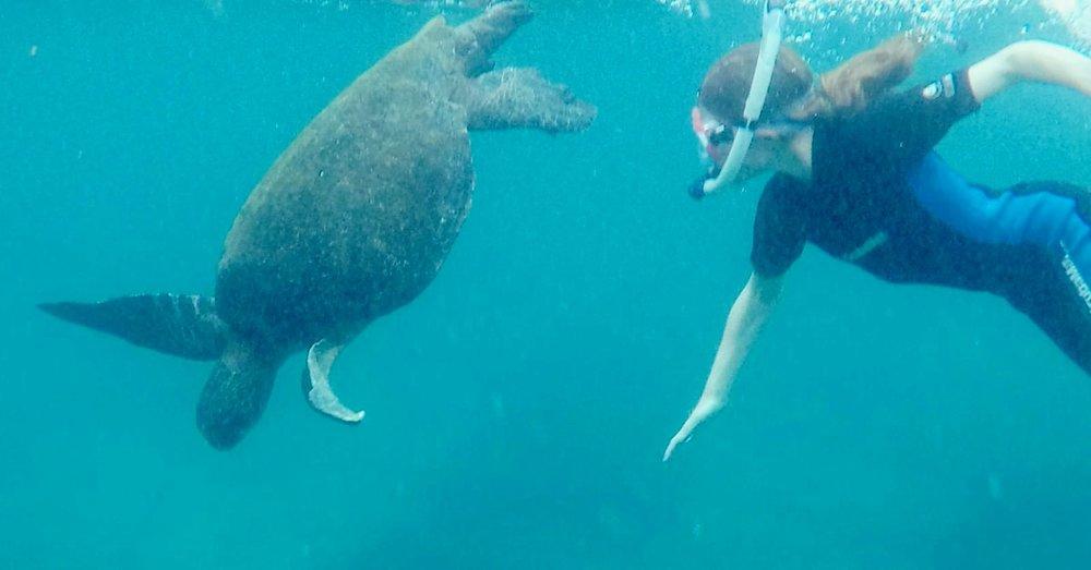 Aurélie n'oubliera pas de sitôt ces moments sous l'eau.