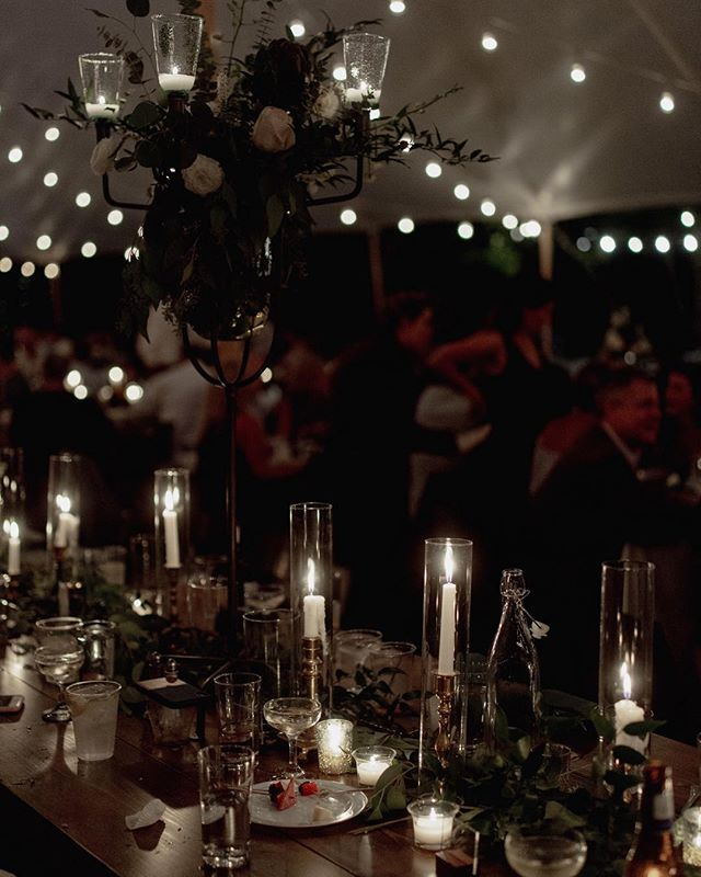I love getting these reception shots that most people would probably think are less important. Like the tables after they dim the lights, the candles have melted, and people have left half eaten cake. I love finding beauty in the mess.
