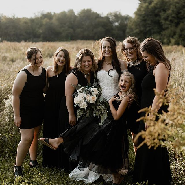Morgan is different and that is precisely why I love her. She went against the grain and had VIPs instead of a bridal party, also had them all wear black and I could not be more in love with all of that.