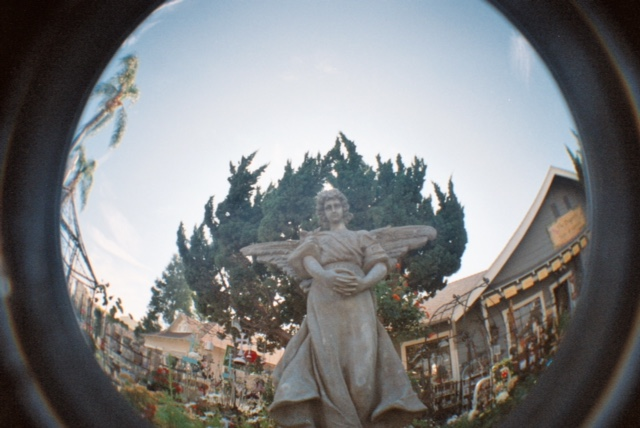Old Fashioned Superstition Syrah Photograph taken by Kris Beverly from his fish eye camera at Chapman University
