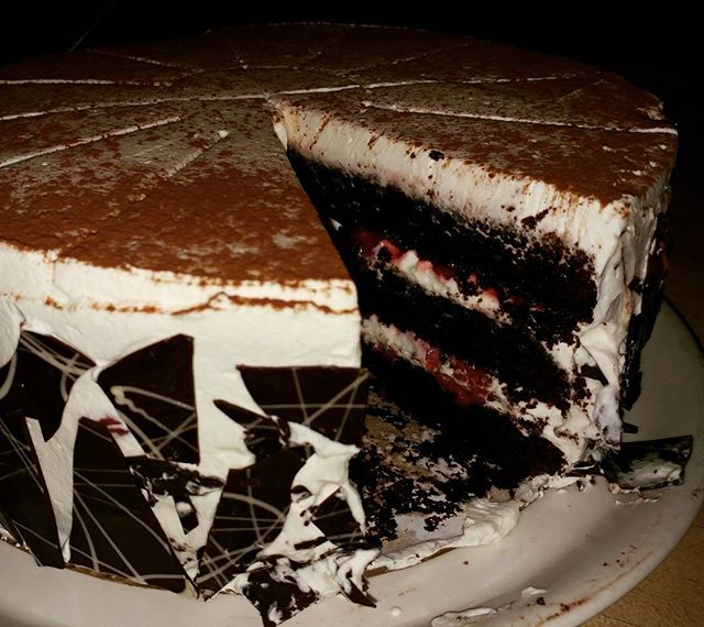 It's hump day you deserve a treat.  Schwartzwalder Kirschtorte... That's Black Forest Cake!  There's only 11 pieces left (because we ate one!) so hurry in or it certainly be gone.  #bestdesserts #ithacacollege #cornelluniversity #downtownithaca #madelinesrestaurant