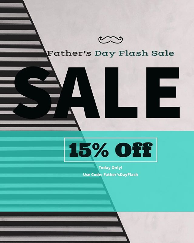 Happy Father's Day! In honor of all Dads (human and fur), we are offering you 15% off of all class and personal training packages! Today only! Use Code:  Father'sDayFlash