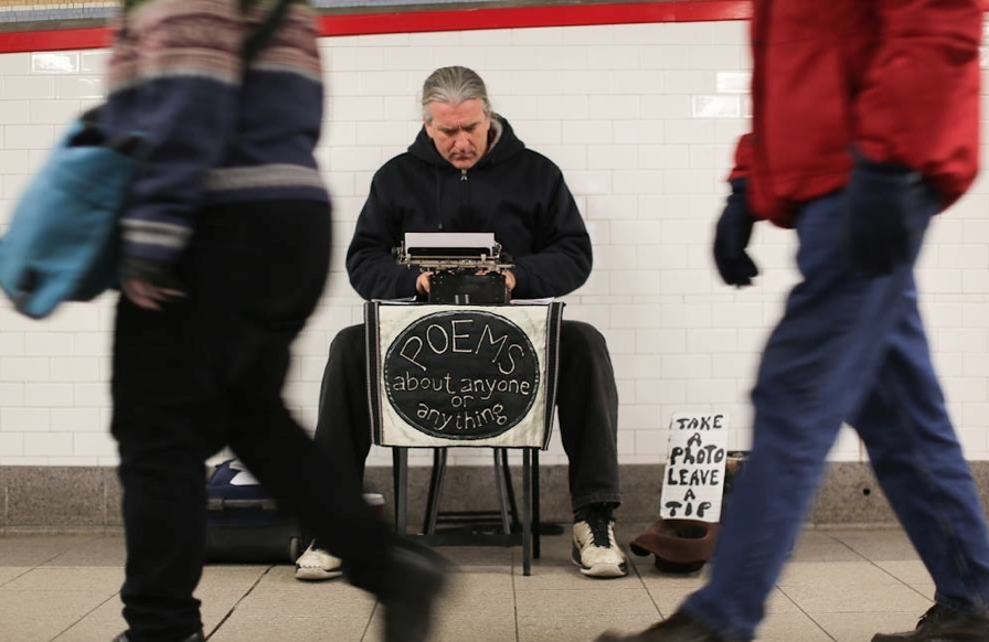In the subway at Union Square, 11/29/2013                                                            Photo Credit: Humans Of New York