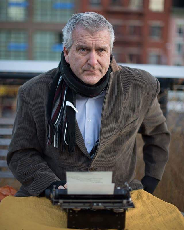 The Poem Guy on the Highline, New York City, 2016
