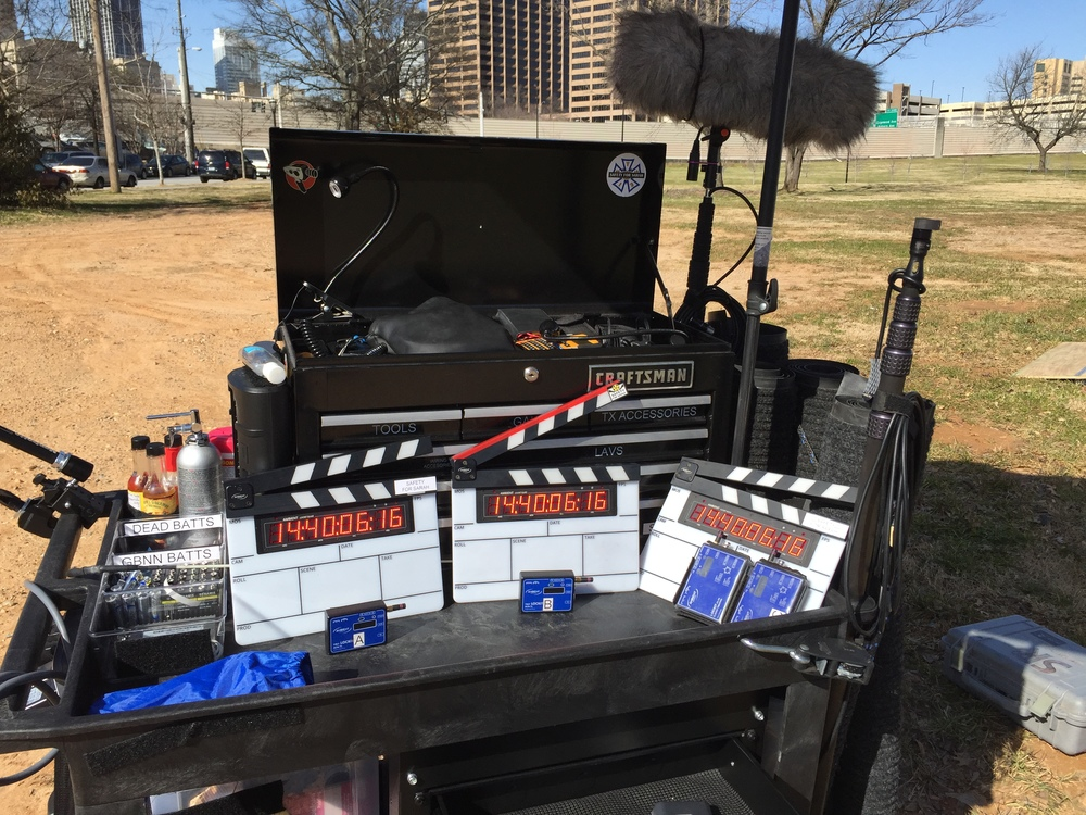The utility cart with the slates jammed to my mix cart.