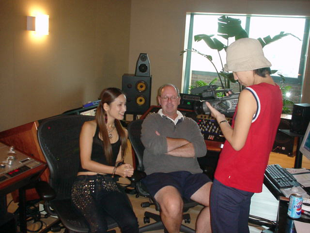 "I met Tom Coyne in 2001. He mastered my worldwide No.1 hit ""Say That You Love Me"" and we got interviewed by TV in Japan."
