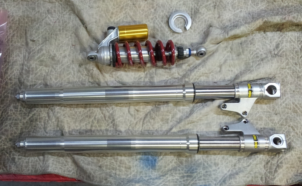 Rebuilt Front Forks and Rear Ohlins Shock