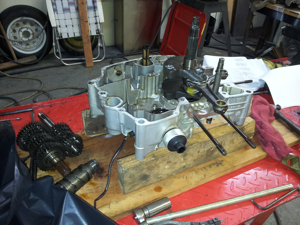 Ducati 900SS Engine Side Disassembled