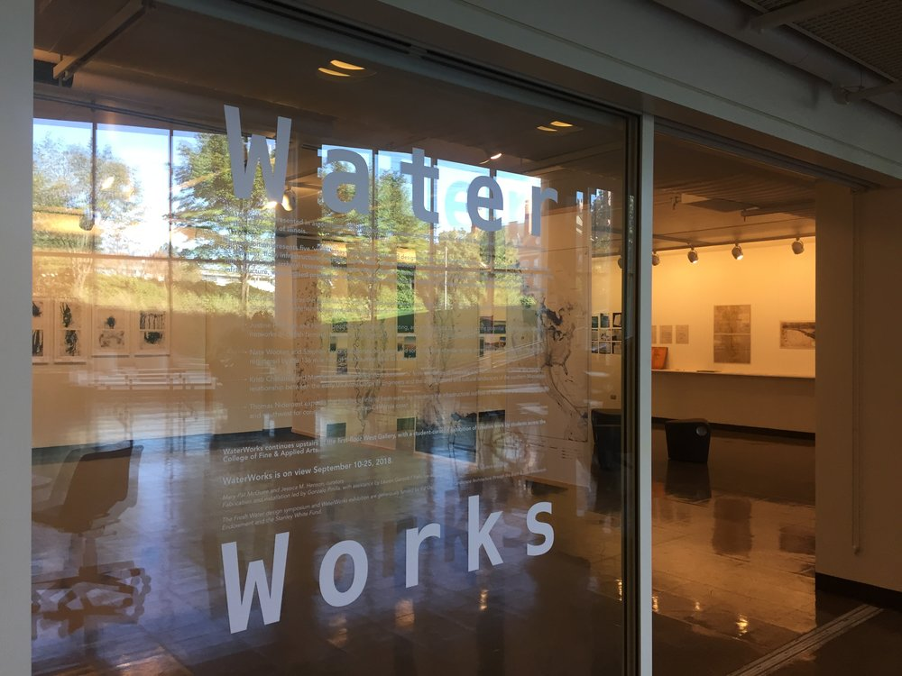 WaterWorks @ Temple Buell Hall Gallery, September 2018