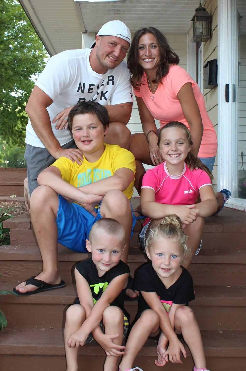 - Pastor Ken Hawkins and family
