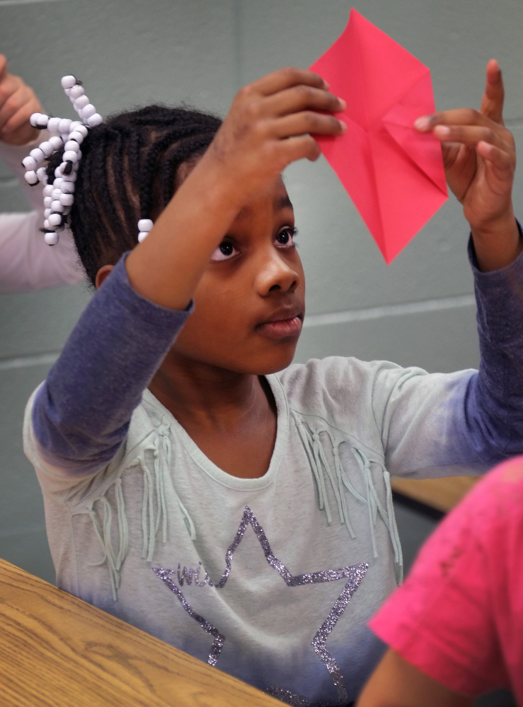 Maxwell Elementary 2nd Grade Student; photo credit: Lexington Herald-Leader Tom Eblen