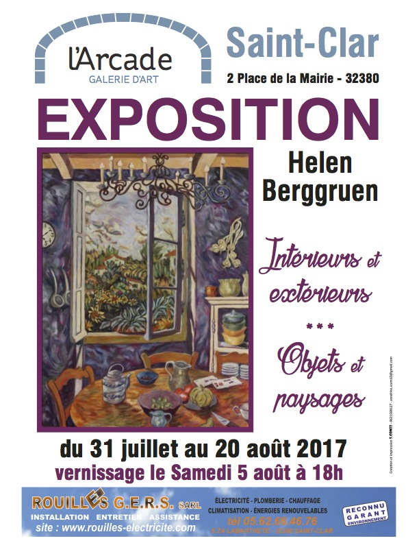 Interiors / Exteriors  - L'Arcade Gallery of Art, Saint-Clar, France.July 31 - August 20, 2017