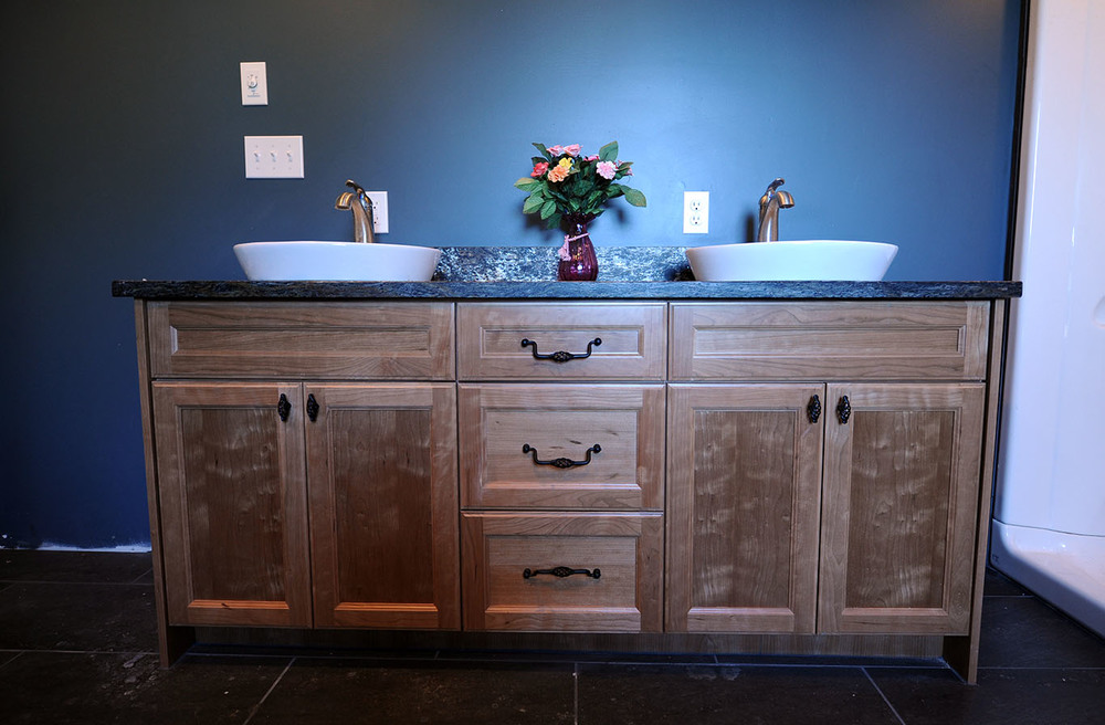 dual sink bathroom vanity with countertop
