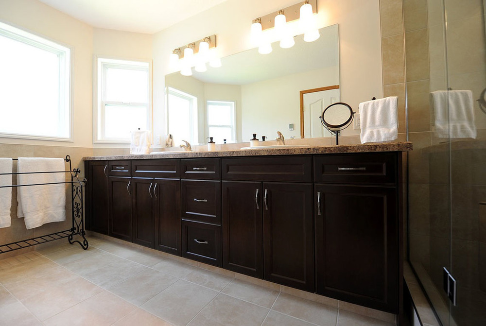 dual sink bathroom vanity with countertops