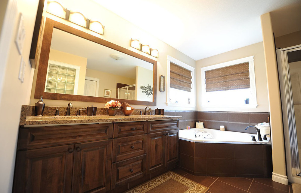 dual sink master bathroom vanity with countertops