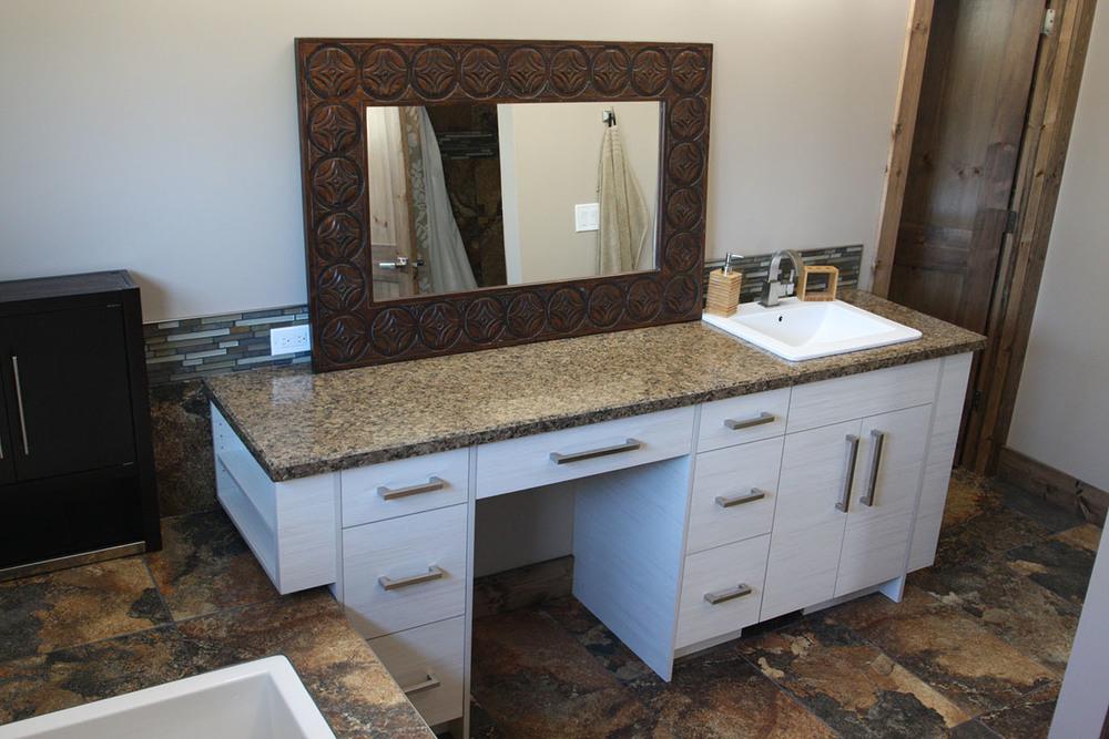 Master bathroom vanity with countertops