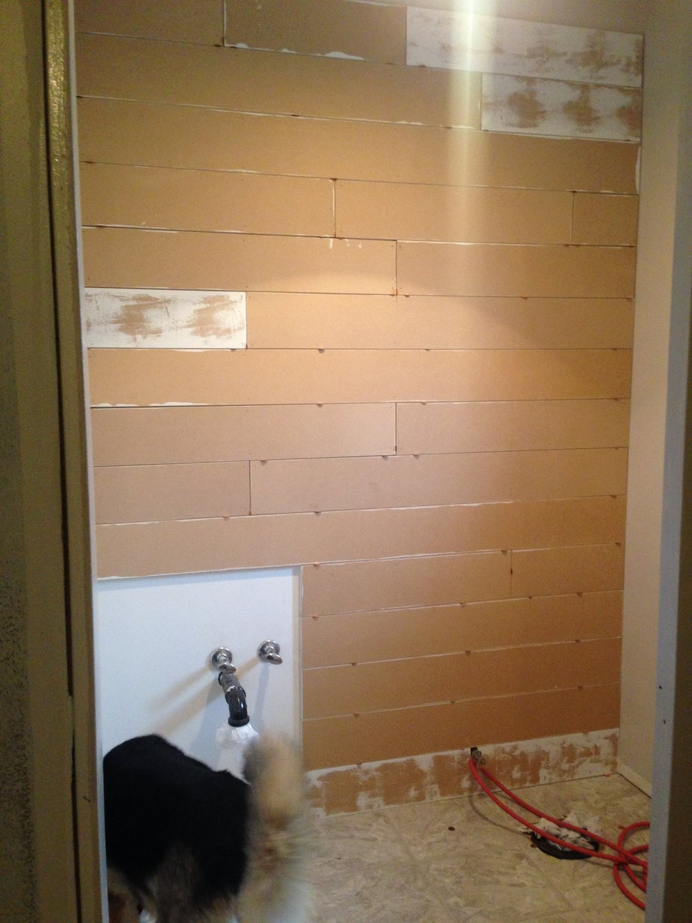 Shiplap Wall in Progress