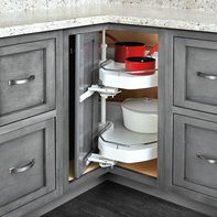 Collapsible Lazy Susan Corner Cabinet