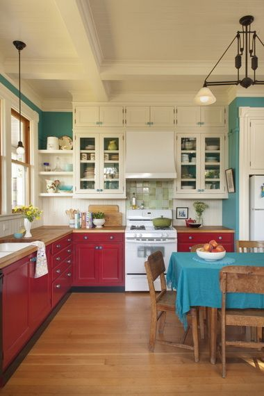 Multi-Colored Palette - Don't forget that red goes with so many colors! It can pair well with other vibrant colors for a fun, quirky space or pair with with neutrals for a warm and inviting.