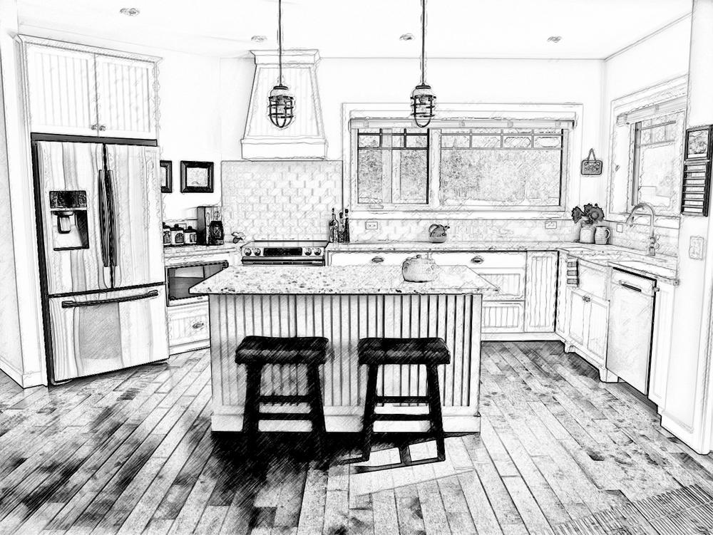Sketch from Kitchen Design