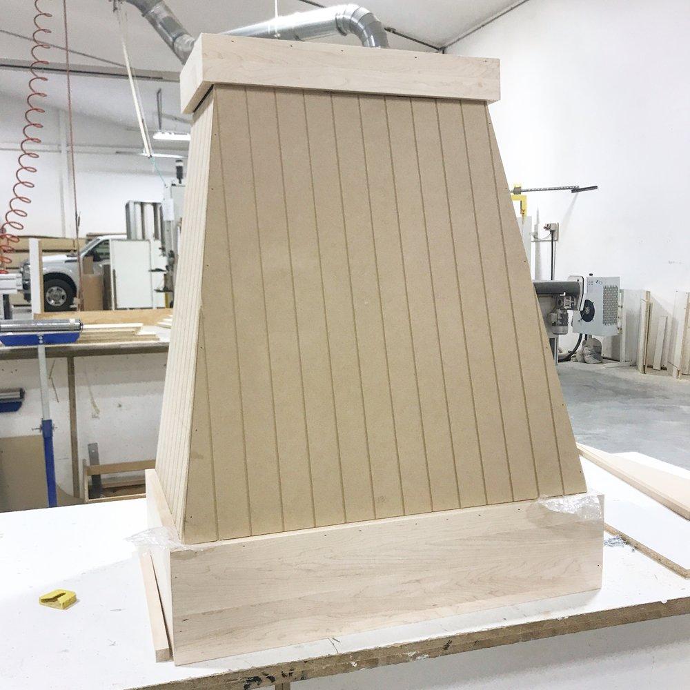 Custom V-Groove Hood Range in Production