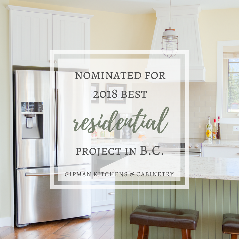 Nominated for 2018 Best Residential Cabinetry Project in BC