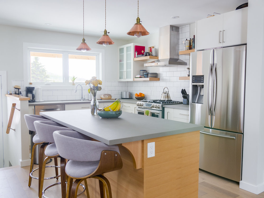 Modern White Kitchen in Kimberley BC