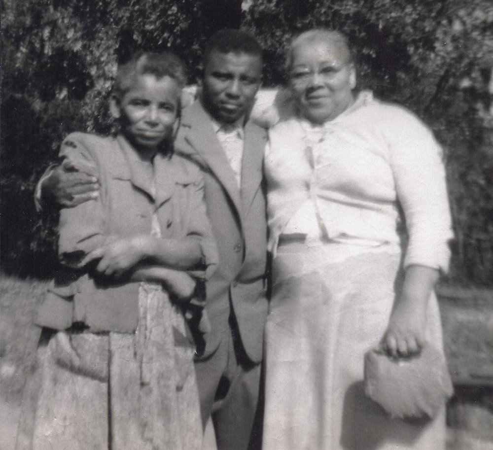 "Mary Blackwell (my great-grandmother), Alexander ""Rat"" Gunn (my great-uncle), and Sadie Gunn (my great -aunt)"