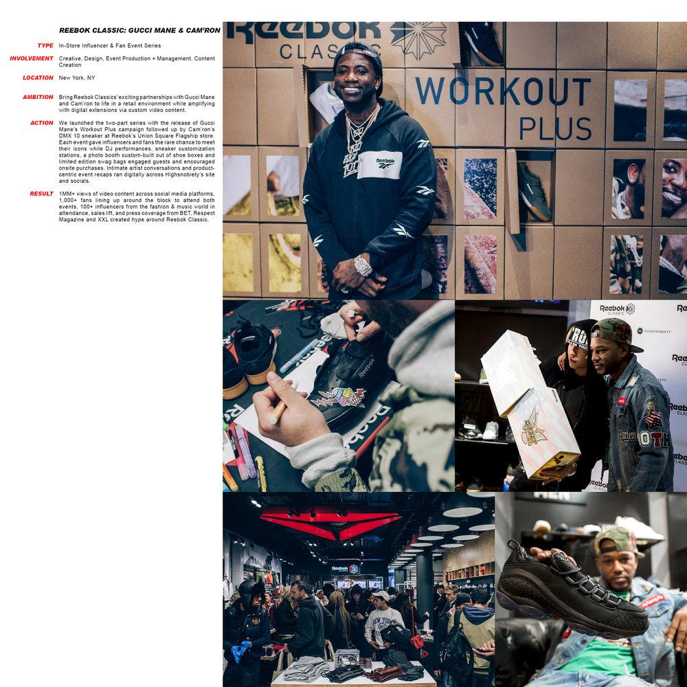 Reebok Classic: Gucci Mane + Cam'ron